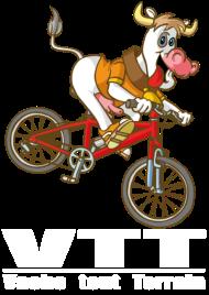 T-Shirt Vache Tou Terrain VTT<br />imprimer sur un tee shirt