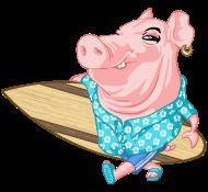 T-Shirt Cochon Surfeur<br />imprimer sur un tee shirt