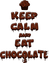 T-Shirt Eat Chocolate<br />imprimer sur un tee shirt