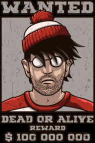 T-Shirt Wanted  Waldo-FINAL2<br />imprimer sur un tee shirt