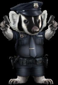 T-Shirt BADGER POLICE<br />imprimer sur un tee shirt