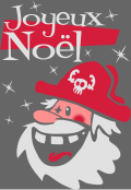 Motif Père Noël pirate