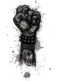 T-Shirt Punk fist not dead<br />imprimer sur un tee shirt