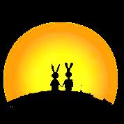 coniglietti coniglio lepre tramonto data di coniglio