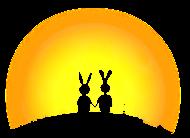 T-Shirt lapins coucher de soleil<br />imprimer sur un tee shirt