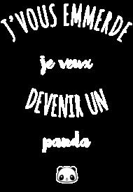 T-Shirt Devenir un panda<br />imprimer sur un tee shirt