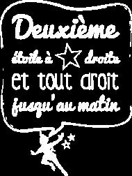 T-Shirt Deuxième étoile (blanc)<br />imprimer sur un tee shirt
