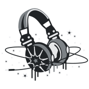 Headphones Planet and Stars