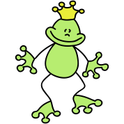 Sweet little frog king