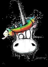 T-Shirt uniconne la licorne<br />imprimer sur un tee shirt