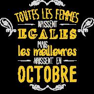 T-Shirt naissance femme octobre<br />imprimer sur un tee shirt