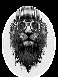 T-Shirt LION RIDER<br />imprimer sur un tee shirt