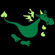 Netter grüner Drache
