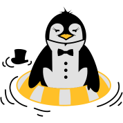 The Penguin with a life ring