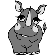 The shy rhino