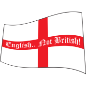 English.. Not British! - Waving Saint Geogre's Cross Flag