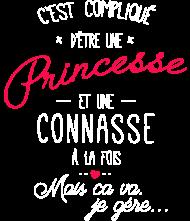 T-Shirt princesse et connase 3<br />imprimer sur un tee shirt