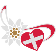 Switzerland flag on heart shape