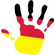 handprint german flag 3c