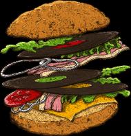 T-Shirt Hamburger<br />imprimer sur un tee shirt