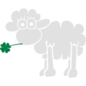 Sheep with clover for dark shirts