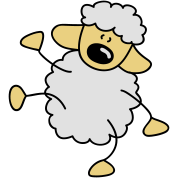 Small dancing sheep