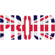 PROUD, Britain Flag, British Flag, Union Jack, UK Flag