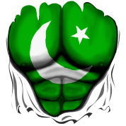 Pakistan Flag Rippede Muskler