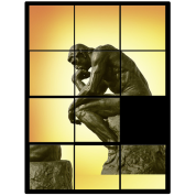Le penseur The Thinker, decals puzzle game