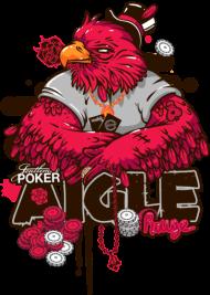 T-Shirt aigle rouge joueur poker<br />imprimer sur un tee shirt