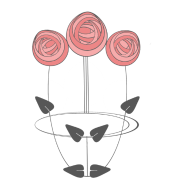 Mackintosh Inspired Art Nouveau Roses