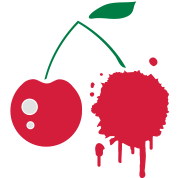 A cherry graffiti