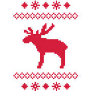 moose caribou reindeer deer christmas norwegian knitting pattern rudolph rudolf winter snowflake sno