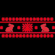 conigli lepre cony leprotto natale norvegese modello pasqua fiocco di neve