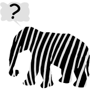 Zebra Elephant mythical animal, enchantment very questionable
