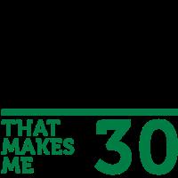 Gestalte dein Geburtstags-T-Shirt zum 30. Geburtstag selbst