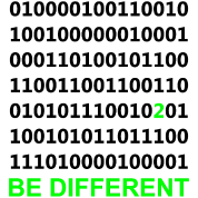 Be Different - Være anderledes - Binary - Digital