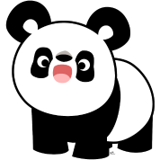 Cute Cartoon Singing Panda by Cheerful Madness!!
