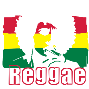 Reggae music Jamaica's flag.
