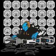 T-Shirt DJ BLeu Alien Mix<br />imprimer sur un tee shirt