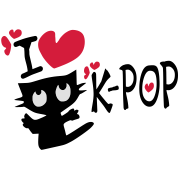 I love k-pop txt kitty cat heart vector line art