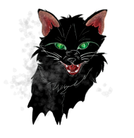 T-Shirt Chat noir halloween<br />imprimer sur un tee shirt