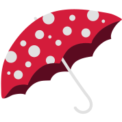 umbrella in the fly agaric look
