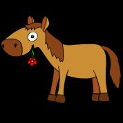 Cavallo con fiore - Comic