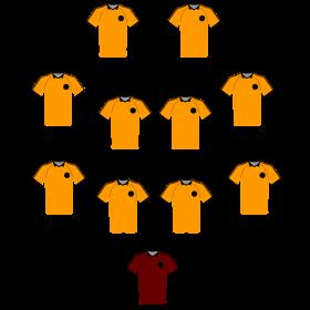 Aufstellung Fussball auf dein T-Shirt