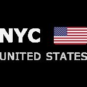 NYC UNITED STATES white-lettered 400 dpi