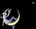 Motif Pierrot et sa lune