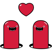 Cute Monsters in Love