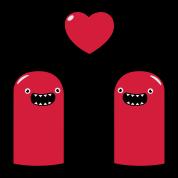 Cute Monsters in Love