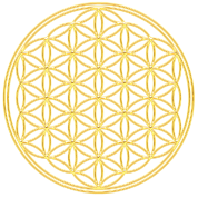 Flower of Life - FEEL THE ENERGY, Gold, Sacred Geometry, Protection Symbol, Harmony, Balance